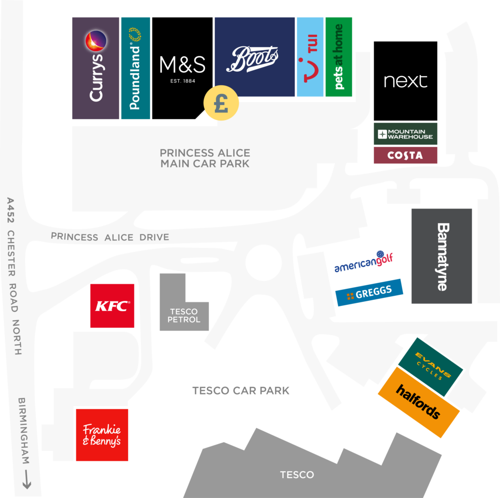 Princess Alice retail park map