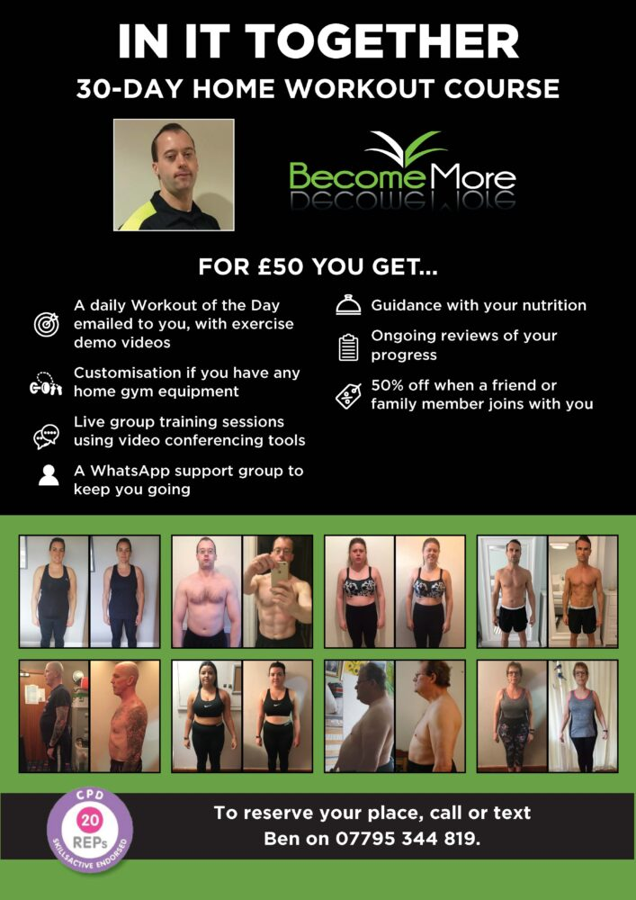 Information about online fitness course with Bannatynes - call Ben on 07795 344819