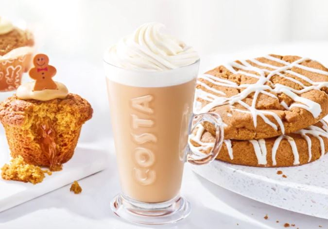 Gingerbread treats are back at Costa